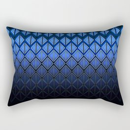 Future Scales blue Rectangular Pillow