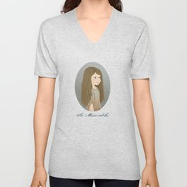 Portrait of Cosette from Les Misérables Unisex V-Neck