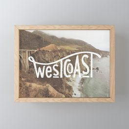 West Coast - BigSur Framed Mini Art Print
