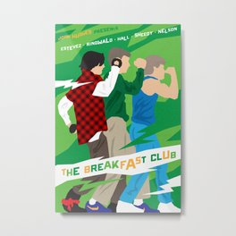 80s TEEN MOVIES :: THE BREAKFAST CLUB Metal Print
