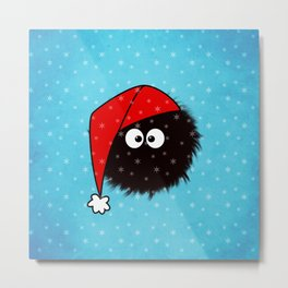 Cute Dazzled Bug Christmas Metal Print