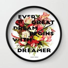 Every Great Dream, 2015 Wall Clock