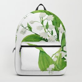 White Lilly Bouquet Backpack