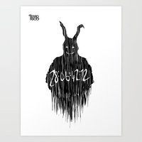 donnie darko Art Prints featuring donnie darko  by Fecó Szép
