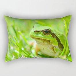 Green European Tree Frog Rectangular Pillow