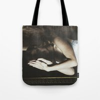 ultraviolence Tote Bags featuring Born to die by UVGLOV