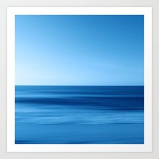SeascapeBlue - horizon Art Print