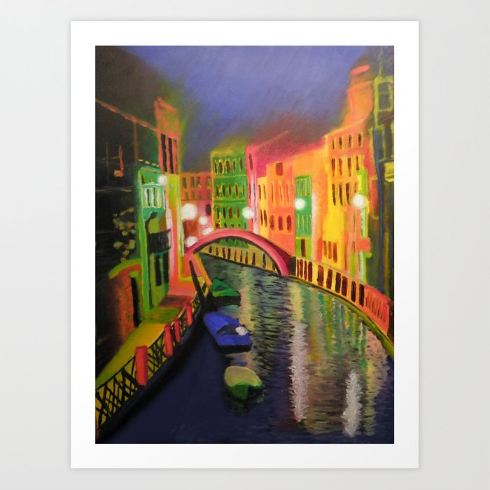 Siskins Venice a la Moi Art Print