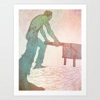 Wheelbarrow Art Print