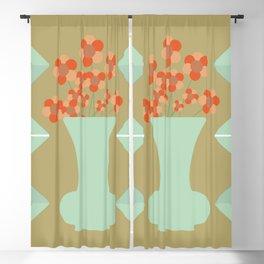 Art Deco Flower Composition Blackout Curtain