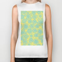 floral pattern Biker Tanks featuring floral pattern by Nastya Bo
