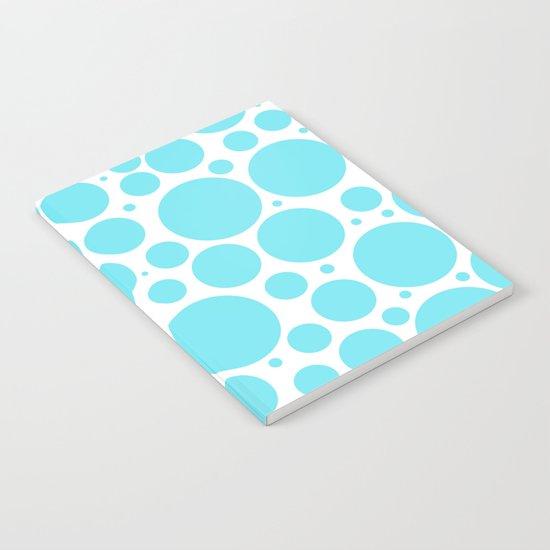 Aqua polka dots- pattern Notebook