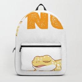 Nope Not Today Sleeping Gecko Leopard Reptile Backpack
