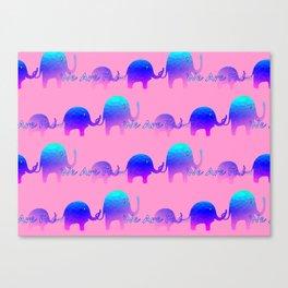We Are Family - Elephants Canvas Print