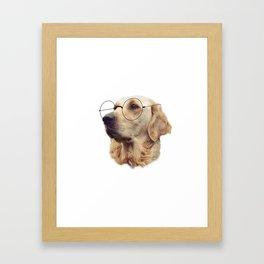 Nerd Doggo Framed Art Print