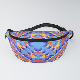 Ethnic geometric pattern with elements of traditional tribal folk style. Fanny Pack