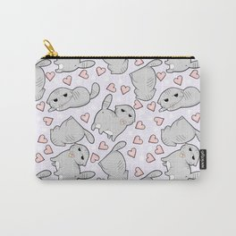 Angry Cat Candy Hearts Carry-All Pouch