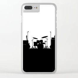 Rock Band Equipment Silhouette Clear iPhone Case