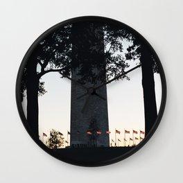 Flag ring around the Washington Monument Wall Clock