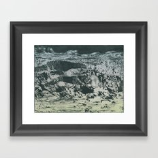 craterscape Framed Art Print