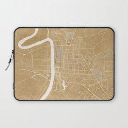 Vintage map of Baton Rouge Louisiana in sepia Laptop Sleeve