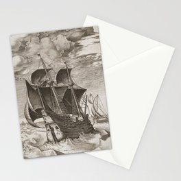 Vintage Ship Art III - Nautical Decor Stationery Cards