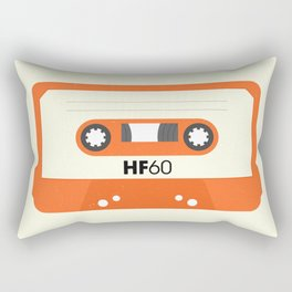 Orange Cassette #1 Rectangular Pillow
