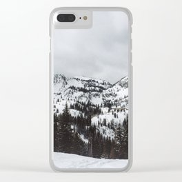 Brighton Ski Resort Clear iPhone Case