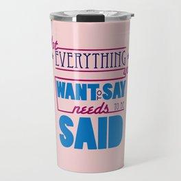 Quote Poster 1 Travel Mug