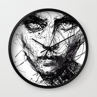 agnes Wall Clocks featuring In trouble, she will. by agnes-cecile