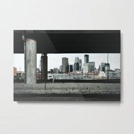 Minneapolis Skyline Views Metal Print