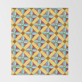 Heraldic Quatrefoil Lozenge Throw Blanket