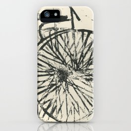 Penny-farthing iPhone Case