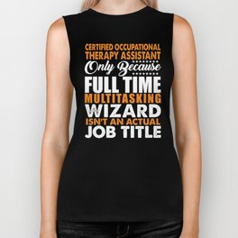 Certified Occupational Therapy Assistant Wizard Biker Tank
