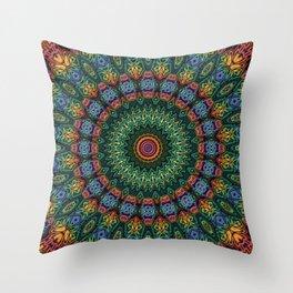 Polished Stone Mandala Throw Pillow