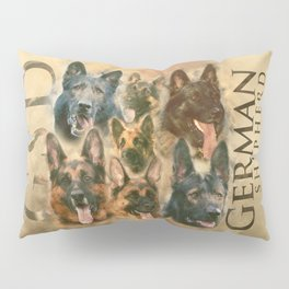 German Shepherd dog - GSD collage Pillow Sham