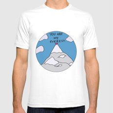 You Are My Everest MEDIUM Mens Fitted Tee White