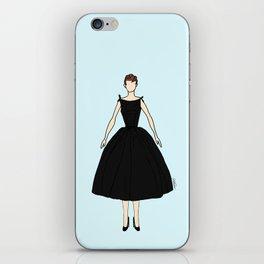 Audrey Hepburn Vintage Retro Fashion 1 iPhone Skin