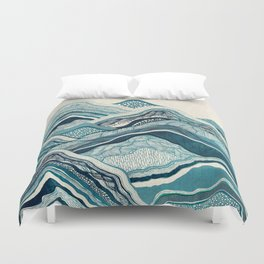 Blue Mountain Hike Duvet Cover