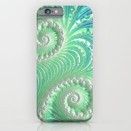 Teal Frosting - Fractal Art iPhone Case