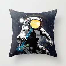 Bong ripper astronaut Throw Pillow