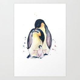 Penguins Family Art Print