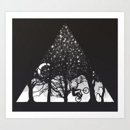 MTB Black Trees Art Print