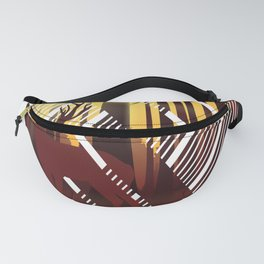 Geometric forest with deer Fanny Pack