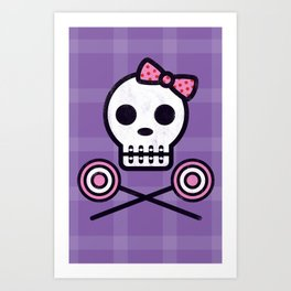 Skull Series SWEET TOOTH SKULL Art Print