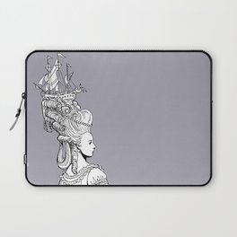 Girl With Ship Laptop Sleeve