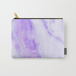 Shimmery Violet Purple Marble Metallic Carry-All Pouch