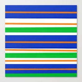 Collegiate Gator Stripes Canvas Print