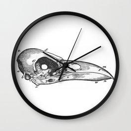Crow skull Wall Clock