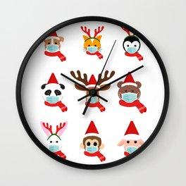Christmas in quarantine Wall Clock